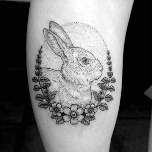 Tattoo Calf Rabbit