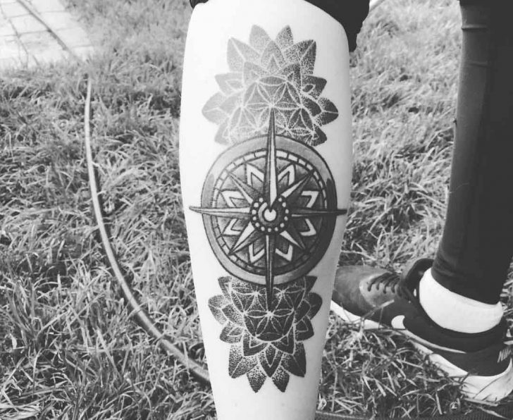 Tattoo Compass Design