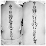 Ornamental Spine Tattoo
