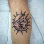 Tattoo Sun and Moon by thrashmoneymillionaire