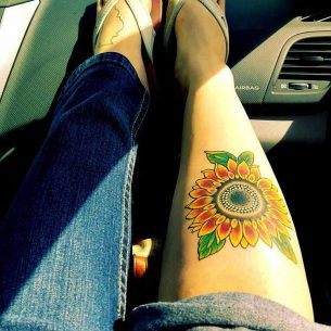 Tattoo Sunflower