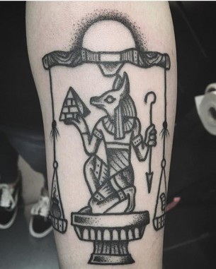 Tattoo of Anubis