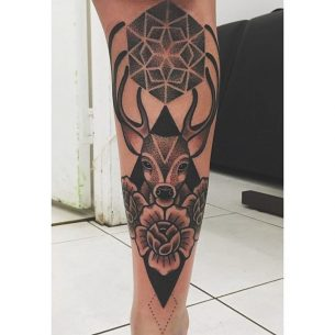 Tattoo on Shin