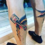 Thunder Piston Tattoo by lalupitastudio