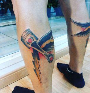 Thunder Piston Tattoo