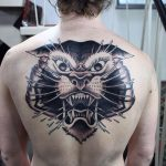 Tiger Back Tattoo