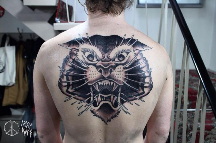 back tattoo tiger