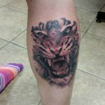 Tiger Calf Tattoo