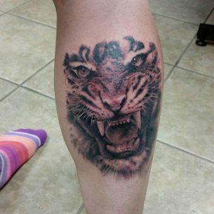 Tiger Calf Tattoo