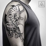 Tiger Shoulder Tattoo