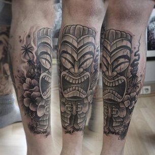 Tiki Mask Tattoo