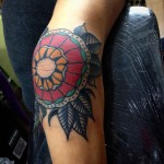 Traditional Elbow Tattoo