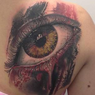 Trash Polka Tattoo Eyeball