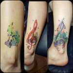 Treble Clef Tattoo Design