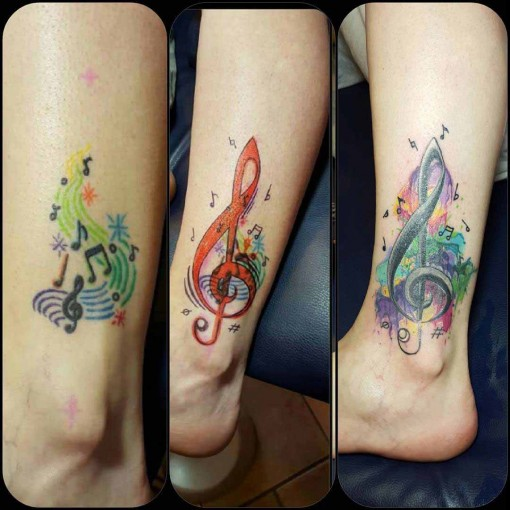 Treble Clef Tattoo Design by mark_hodge_alteregotattoos