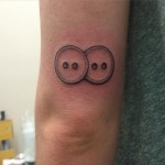 Two Buttons Tattoo