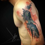 Watercolor Tattoo Shoulder