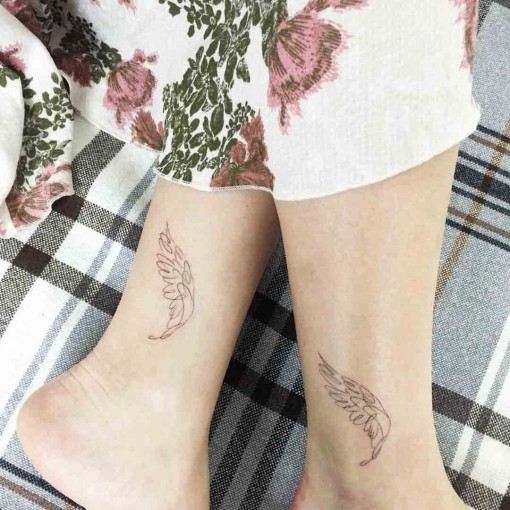 Wing Ankle Tattoo by ilwolhongdam