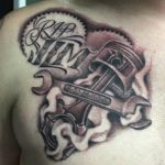 Wrench and Piston Tattoo