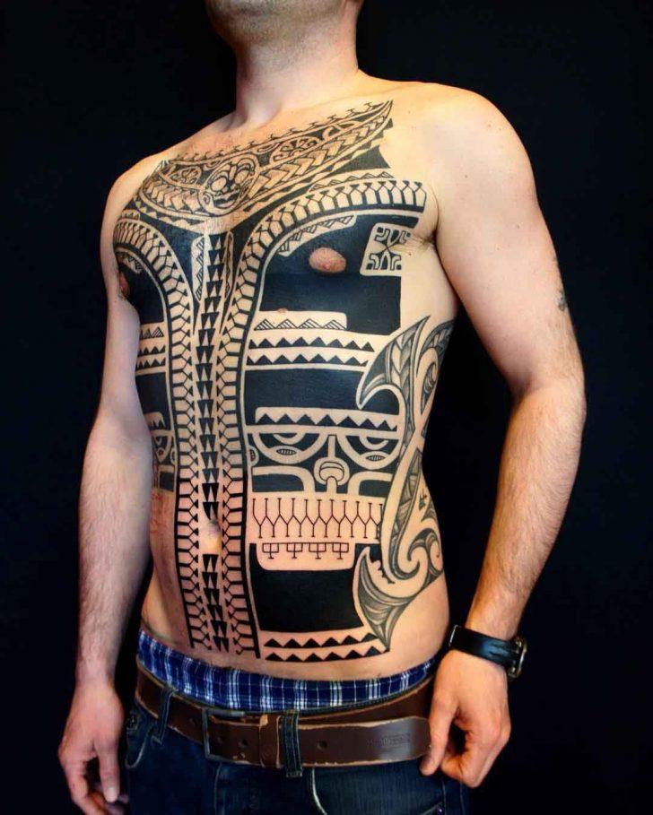 torso tattoo design maori