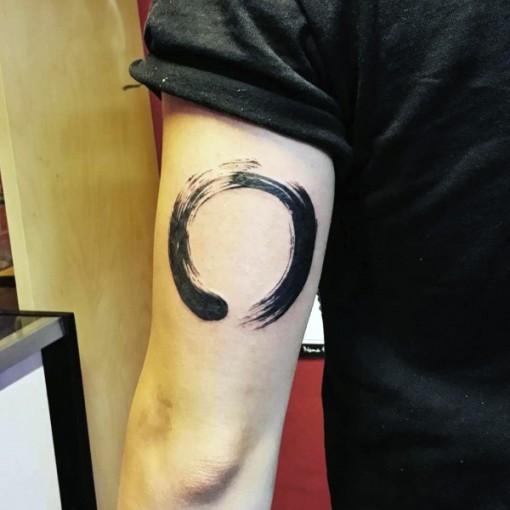 Tricep Zen Circle Tattoo