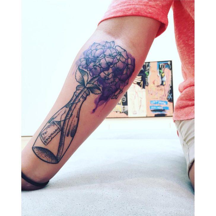 watercolor Hydrangea Tattoo by tattoosbyturkey