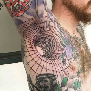 3D Armpit Tattoo