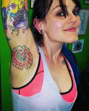 Armpit Dinosaur Tattoo
