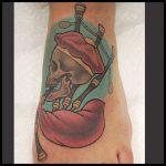 Bagpipes Skeleton Tattoo