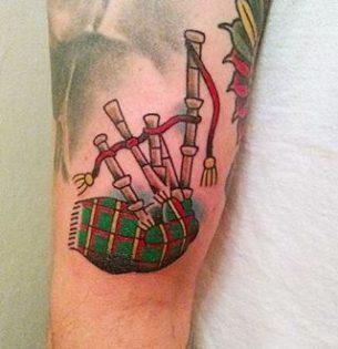 Bagpipes Tartan Tattoo