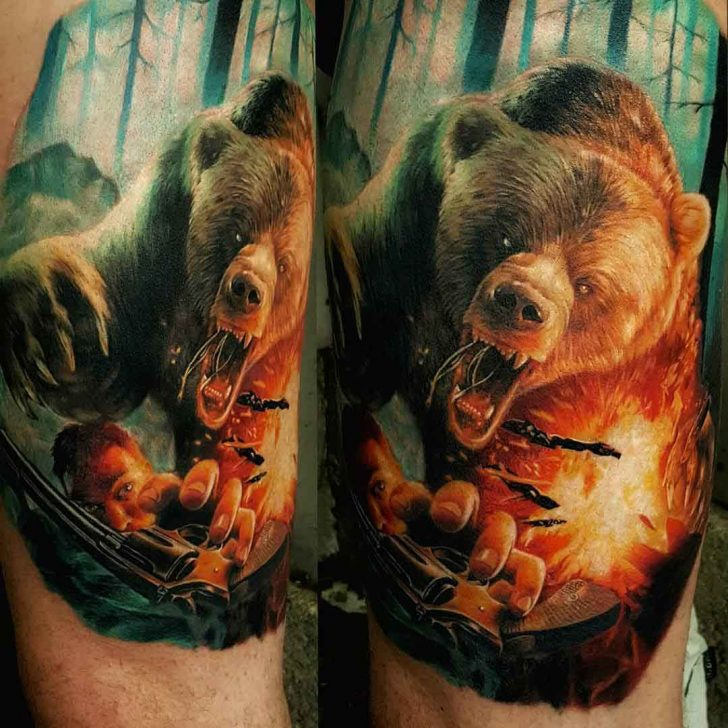 Bear Tattoo | Best Tattoo Ideas Gallery Simple Buddha Drawing