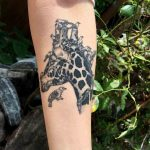 Birds and Giraffe Tattoo