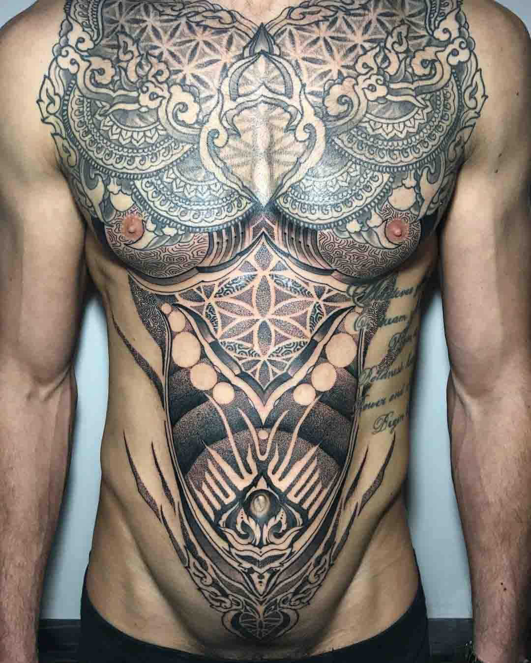 torso tattoos for men