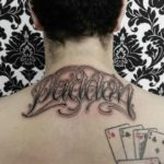 Chicano Tattoo on Nape by sash_tattoo