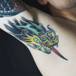 Dragon Tattoo on Armpit by sogtattoos