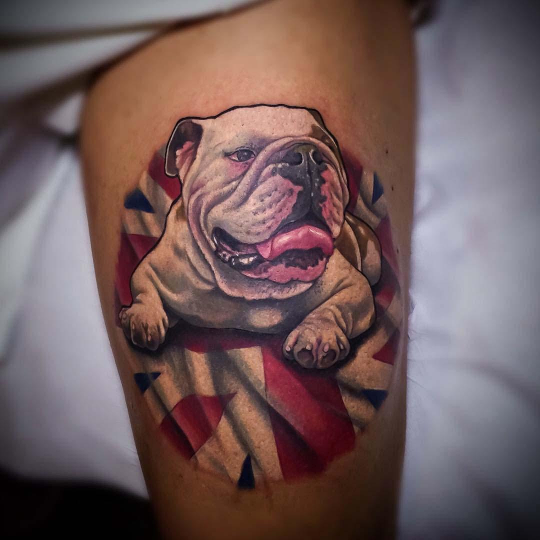bulldog tattoo english