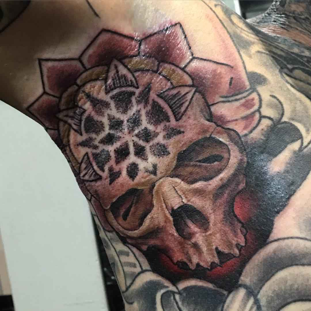 Evil Skull Tattoo