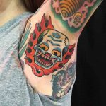 Flame Skull Tattoo