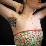 Girl Armpit Tattoo