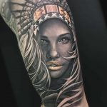 Girl Indian Tattoo