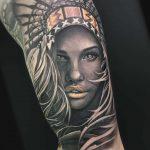 Girl Indian Tattoo