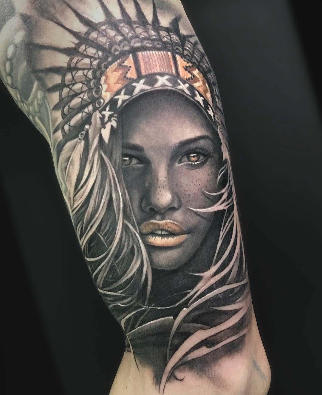 Indian Realistic Tattoo