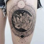 Girl Thigh Tattoo