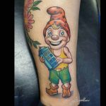Gnome with Tardis Tattoo Doctor Who