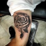 Inner Bicep Rose Tattoo