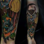 Men's Owl Tattoo