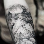 Mountain Tattoo Arm