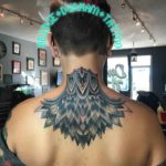 Nape of Neck Tattoo by deidgedunhamtattoo