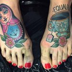 Cool Neo-Traditional Foot Tattoos