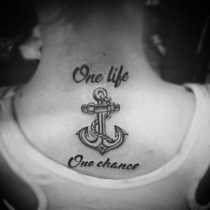 One LIfe One Chance Tattoo Anchor